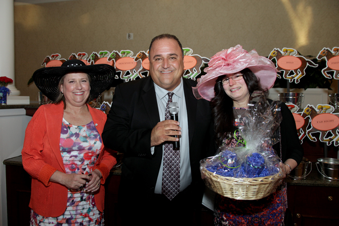 Joni Walser, Dom Bria and Hat Contest Winner Talia Ben-Joseph