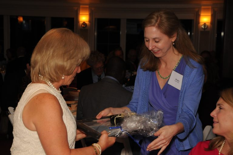 Denise Vestuti presenting Susan Marks with her gift.