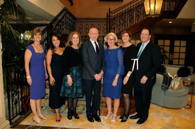 Several Laurel House employees celebrating at the 2018 dinner dance event